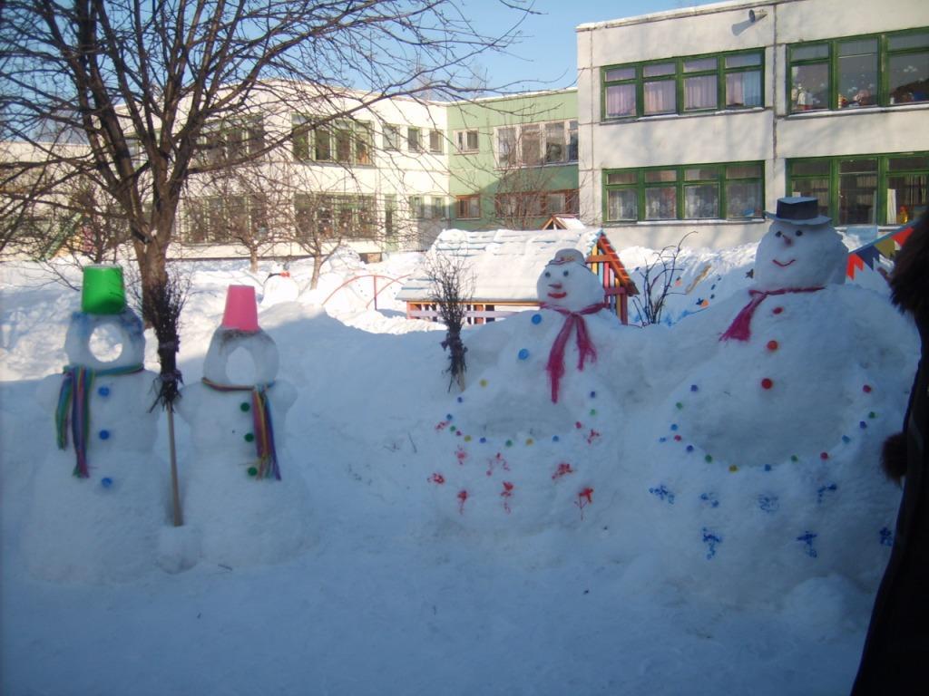 Участок в детском саду своими руками фото зимой8
